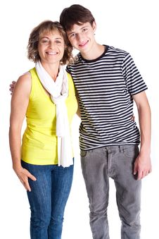 Free Grandmother With Young Grandson Stock Photos - 20079113