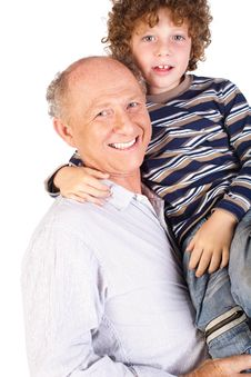 Free Grandfather And Grandson Smiling Royalty Free Stock Photos - 20079148
