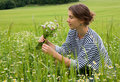 Free Young Woman In Field Of Blossom Royalty Free Stock Image - 20080676