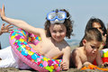 Free Child Group Have Fun And Play With Beach Toys Royalty Free Stock Photos - 20084748
