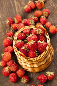 Strawberries In A Basket Royalty Free Stock Image