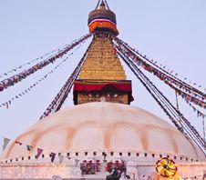 Free Boudhanath Stupa In Kathmandu , Nepal Stock Image - 20081271