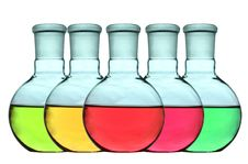 Free Liquid Colorful Of Laboratory Glassware Stock Photography - 20081332