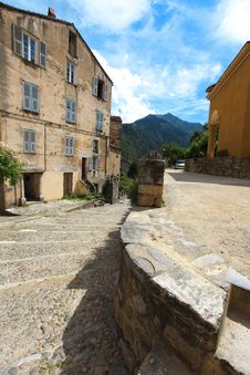 Free Village Town Square In Corsica Royalty Free Stock Photo - 20084165