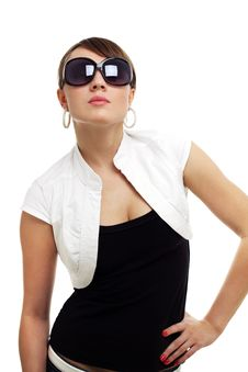 Free Young Woman Wearing Sunglasses Stock Image - 20084191