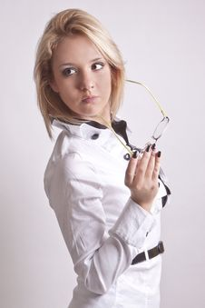 Free Girl In A Suit And Glasses Stock Photography - 20084352