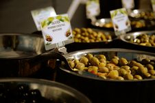 Free Green Olives For Sale In The Market Stock Photo - 20084380