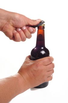 Free Opening A Bottle Of Beer Royalty Free Stock Image - 20084436