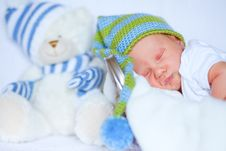Free Adorable Newborn Baby Royalty Free Stock Photo - 20084455