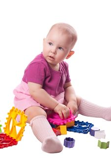 Free Little Girl Playing With Toy Royalty Free Stock Photography - 20085367