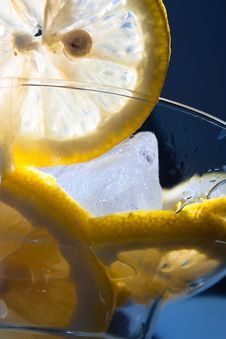 Free Lemon Ice In A Glass Royalty Free Stock Photography - 20085727