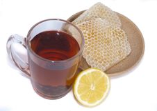 Free Black Tea, Lemon And Honey Stock Image - 20086111