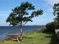 Free Outdoors Picnic Table By The Sea Stock Photo - 20086410