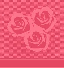 Free Vector Red Halftone Roses Card Royalty Free Stock Photo - 20086565