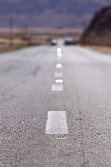 Highway With Road Marking Royalty Free Stock Photography