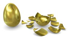 Free Golden Egg On A White Background: Not Hatched And Stock Image - 20087721