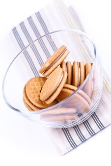 Free Cookies In A Glass Dish Royalty Free Stock Photos - 20087728