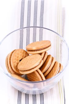 Free Cookies In A Glass Dish Royalty Free Stock Photos - 20087738