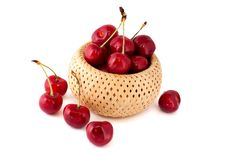 Free Cherries In A Basket Royalty Free Stock Photography - 20087807