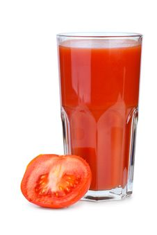 Tomato Juice And Ripe Fresh Tomato Near Stock Images