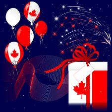 Free Canada Day. Stock Images - 20089084