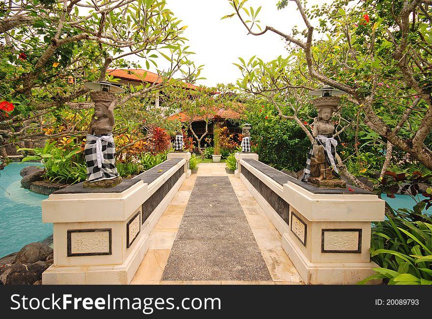 Garden On Tropical Resort (Bali, Indonesia) - Free Stock