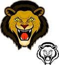 Free Roaring Lion Head Mascot Stock Images - 20090564