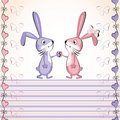 Free Valentine S Heart Vector Card. Baby Rabbit. Stock Images - 20093694