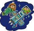 Free Flight Computer Geeks Stock Image - 20098251
