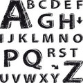 Free Font Composition Based On Drawing The Latin Alphab Stock Image - 20098281