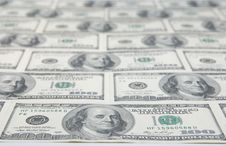 Free Background With American Hundred Dollar Bills Royalty Free Stock Photo - 20090295