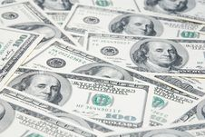 Free Background With American Hundred Dollar Bills Royalty Free Stock Photo - 20090305