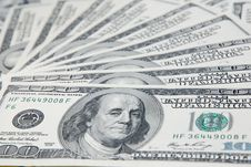 Free Background With American Hundred Dollar Bills Royalty Free Stock Photo - 20090315