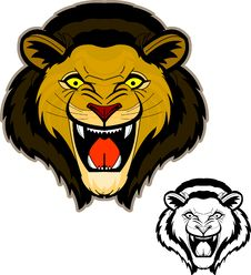 Free Roaring Lion Head Mascot Stock Images - 20090564