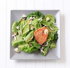 Free Spinach Salad And Marinated Chicken Royalty Free Stock Photo - 20090875