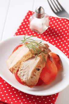 Marinated Chicken Breast Royalty Free Stock Images