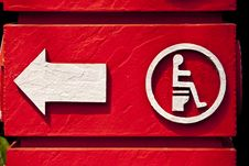 Free Red Handicap Sign Stock Photos - 20091423