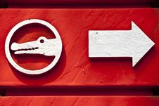 Free Red Animal Sign Royalty Free Stock Photos - 20091428