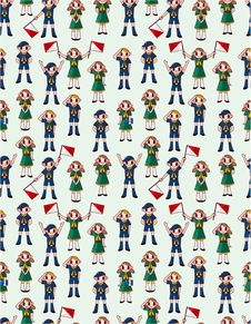 Free Seamless Boy/girl Scout Pattern Stock Photos - 20091703