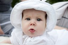 Free Sweet Baby In Park Stock Image - 20091741