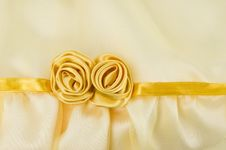 Free Fabric Gold Rose Royalty Free Stock Photos - 20091878