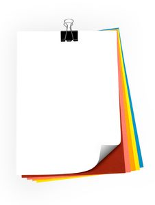 Free Colorful Paper Sheets Royalty Free Stock Photo - 20092725