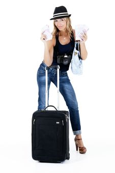 Free Traveling Woman Royalty Free Stock Photo - 20092975