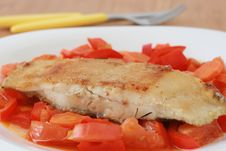 Free Fried Flounder With Vegetables Stock Photos - 20093783