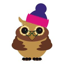 Free Nice Owl In Cap On White Royalty Free Stock Image - 20094126