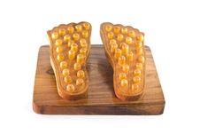 Wooden Feet Massage Device Stock Image
