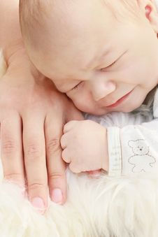 Free Close-up Of Cute Small Boy With Mother Hand Stock Image - 20094951