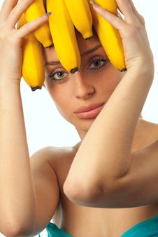 Free Woman With Fruits Headwear Stock Photo - 20095130