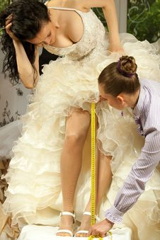 Free Women Making Adjustment In Designer Studio Stock Image - 20095131