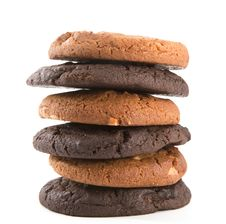 Free Stack Of Chocolate Cookies Royalty Free Stock Photography - 20095437
